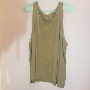 Green american eagle tank top